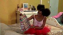 Ebony Teen fucked by Unicorn
