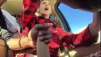 Cum in car - Batendo uma pro amigo no carro Thumbnail