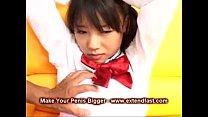 Japanese Asian School Girl Rough Blowjob Cum on…