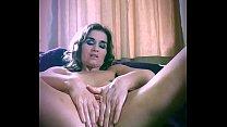 Tiny amateur British MILF, 53, solo masturbation, homemade