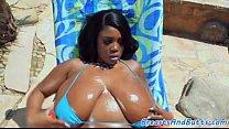 Busty Ebony Beauty Fucked in Missionary, HD Porn  Mobile
