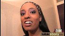 Ebony in a huge bukkake 17