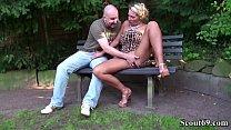 German Big Tits MILF Seduce Stranger to Fuck in...