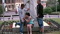 PUBLIC teens street sex GANGBANG by a famous s...
