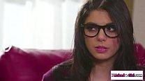 Teen babe licks nerd latina classmate
