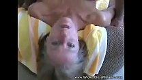 Grandma Rides Cock Cowgirl Style