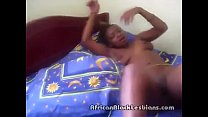 Blonde African ebony gets her twat eaten by a h...