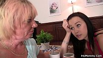 Angry guy meets his lesbain mom fucking his gf