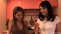 Horny Sakura Kiryu and a friend take control an...