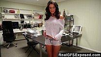 RealGfsExposed - Masturbating on her desk makes...
