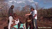 rough african groupsex safari orgy