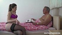 Beautiful horny niece watches grandpa read his ...