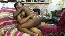 A WILD BLACK GIRL TAKING MY CUM!!