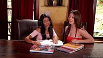 Veronica Rodriguez teaching Jojo Kiss - Girlsway