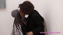 Lesbea Black French and Brazilian romantic pussy eating lesbians