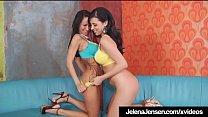 Dildo Banging Lesbians Jelena Jensen & Sandee W...