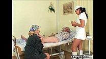 ot nurse helps old patient to get laid