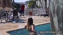 Drilling bikini girlfriend doggystyle