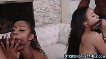 Ebony stepmom facialized