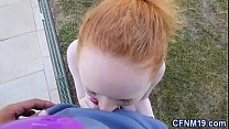 Cfnm redhead cum dumped