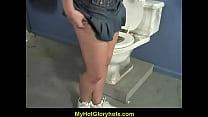 Gloryhole blowjob - Sexy girl sucking cock 15