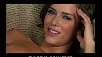 Natural teen brunette Malena Morgan rubs her we...