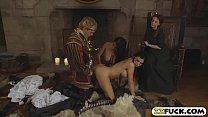 Slutty servants served their majesty with twat ...