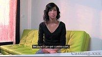 Casting HD Innocent brunette fucked on desk
