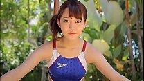 Azusa Tsukahara High-leg swimsuit blue legs-fet... Thumbnail