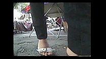 Sexy shoe walking sounds arab feet