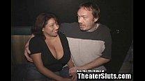 Big Ass Titties Latina Wife Gang Fucked in Porno Theater!