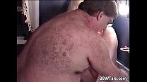 Blonde mature BBW slut is fucked by fat