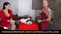 CASTING ALLA ITALIANA - Cum eating Marie Clarence sucks and fucks Omar Galanti