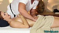 Gorgeous redhead massaged
