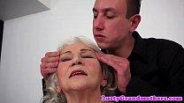 Cocksucking granny tittyfucked by big cock Thumbnail