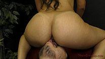 femdom - ass & feet worship slaveboy her makes girlfriend latina Mean