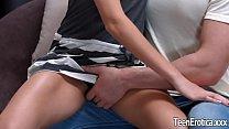 Small tittied teen Erica Rose fuck and facial