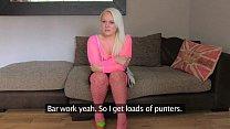 fakeagentuk amateur petite blonde girl empties agents balls in fake casting