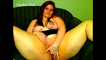Chubby Redhead Fucks Her Pussy With Dirty Talk