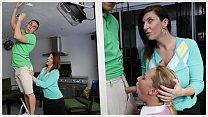 BANGBROS - Stepmom MILF Sara Jay Threesome With Step Daughter Carter Cruise Thumbnail