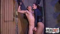 Tristan SWEET Cums On Vivienne LAMOURS Fishnets