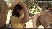 Teen at the ranch