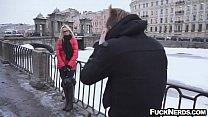 Hot Blonde Wearing Glass Hardcore Sex