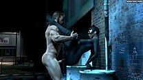 Woiverine Loves Catwoman 3D HD smplace.com
