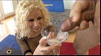 Порно малофью глотает стакан
