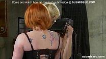Lesbian babe enjoys BDSM, spanking and pain from mistress