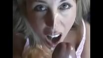 หนังโป๊ฝรั่งอมควยโคตรเก่ง เล่นเลียหัวดอใหญ่ๆจนน้ำพุ่งใส่หน้าแตกยับ