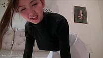 Gorgeous Asian teen blowjob