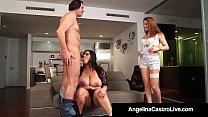 Cuban BBW Angelina Castro & Roberta Gemma Do 3W...