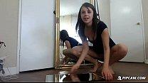 webcam on squirts teen brunette Hot